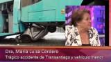 Dra Cordero se refiere al fatal accidente que terminó con la vida de dos jóvenes