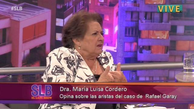 """[VIDEO] Dra Cordero sobre Garay: """"Me pidió recetas para suicidarse"""""""