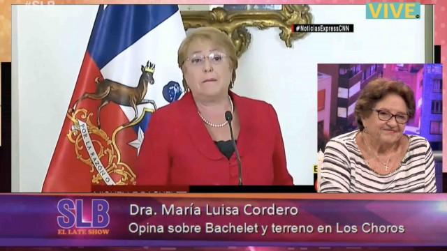 Dra Cordero se refiere al caso de compra de terrenos de Michelle Bachelet