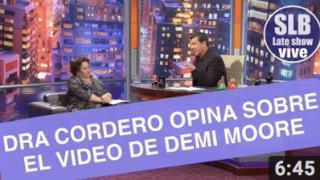 SLB- Dra Cordero abordó el polémico video de Demi Moore besando a un niño