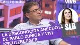 """SLB. Pablo Zuniga revela desconocida anécdota con Vivi Kreutzberger """"Le comía su comida"""""""