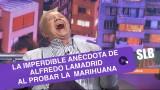 """SLB. Alfredo Lamadrid recordó el día que probó la marihuana: """"Me reí como 3 horas"""""""